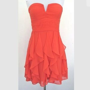 Hailey Logan/Adrianna Papell Strapless Party Dress